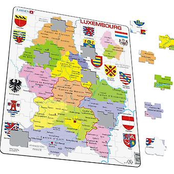 Map of Luxembourg - Frame/Board Jigsaw Puzzle 29cm x 37cm (LRS K77-V1)