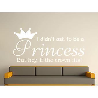 Being A Princess v2 Wall Art Sticker - White