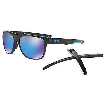 Oakley OO9360 13 Polished Black Crossrange XL Square Sunglasses Lens Category 3 Lens Mirrored Size 58mm