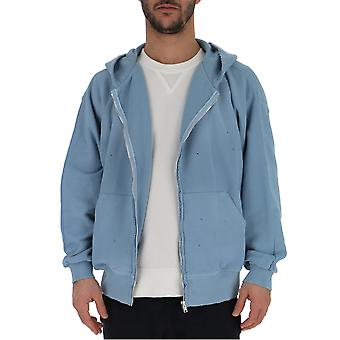 Laneus Light Blue Cotton Sweatshirt