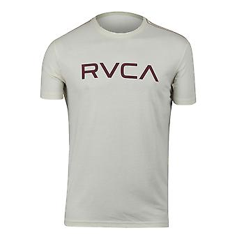 RVCA Mens Big RVCA Mens Vintage Dye T-Shirt - Almond Tea White