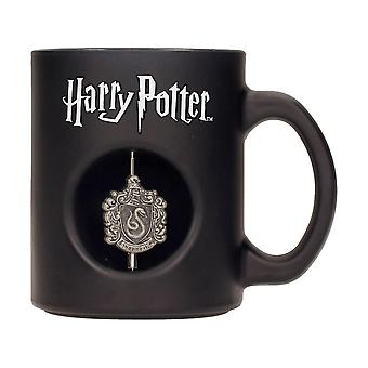Harry Potter Cup Slytherin 3D coat of arms black, printed, ceramic, capacity approx. 315 ml...