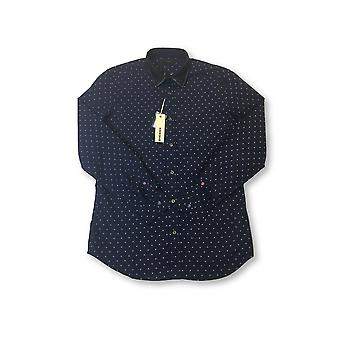 Diesel Akep shirt in blue geometric diamond pattern