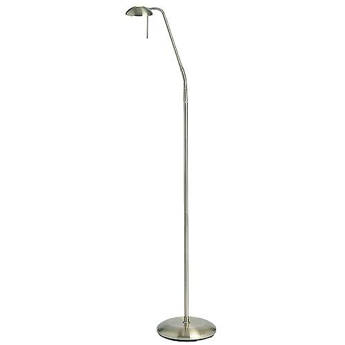 Endon 656-FL-AN Antique Brass Touch Dimmer Reading Floor Lamp