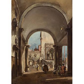 An Architectural Caprice, Francesco Guardi, 54x36cm