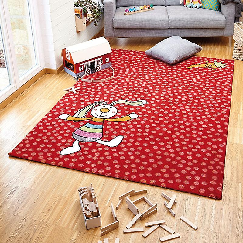 Rugs - Sigi-Kid Rainbow Rabbit Red - SK 0523-02
