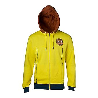 Rick and Morty Sweatshirt Morty Novelty Hoodie Yellow Large (HD348675RMT-L)