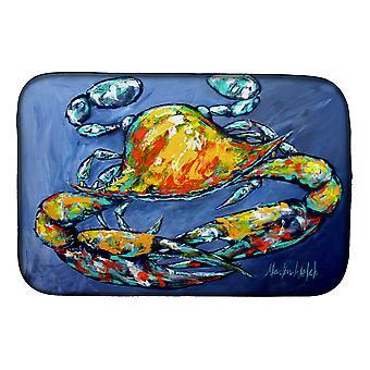 Carolines Treasures  MW1269DDM Blue Gray Kinda Day Crab Dish Drying Mat