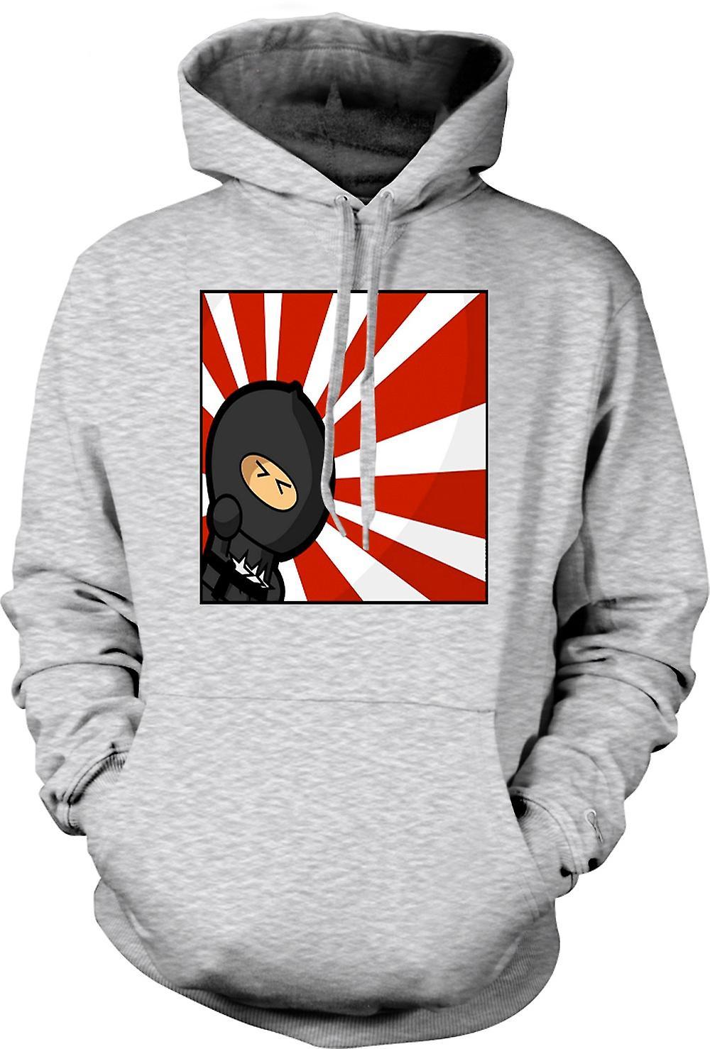Mens Hoodie - Ninja - Pop Art - Funny