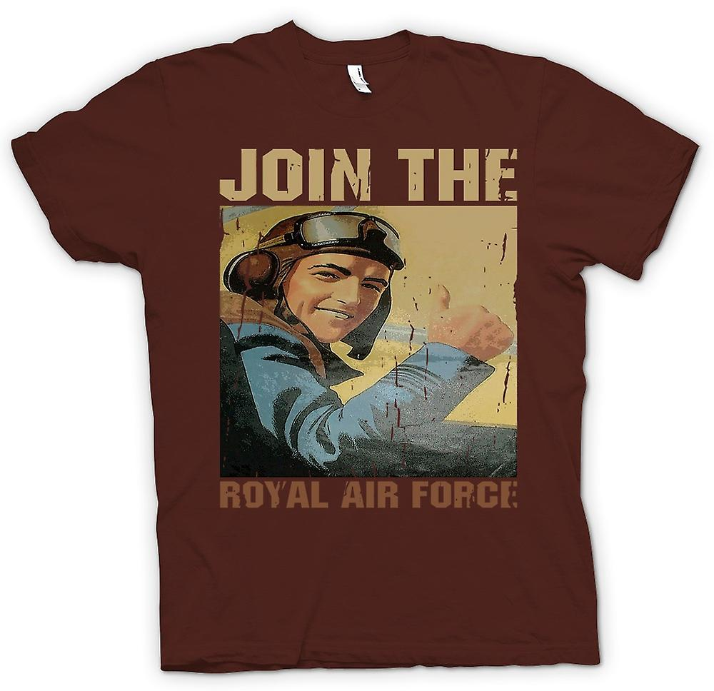 Herr T-shirt - gå med Royal Air Force - RAF WW2