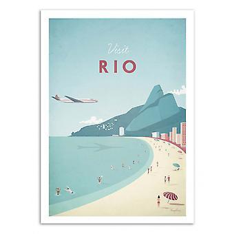 Art-Poster - Visit Rio - Henry Rivers 50 x 70 cm