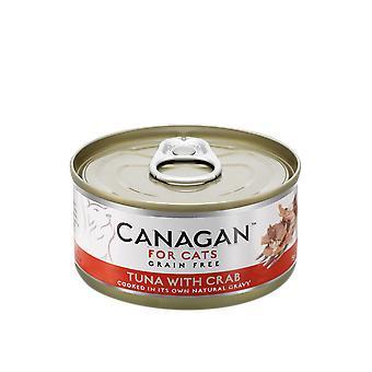 يمكن كانجان 75 ز التونة مع السلطعون القط الغذاء الرطب-يمكن 75 ز