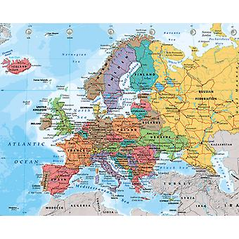 Europäische Karte 2014 Mini Poster 40x50cm