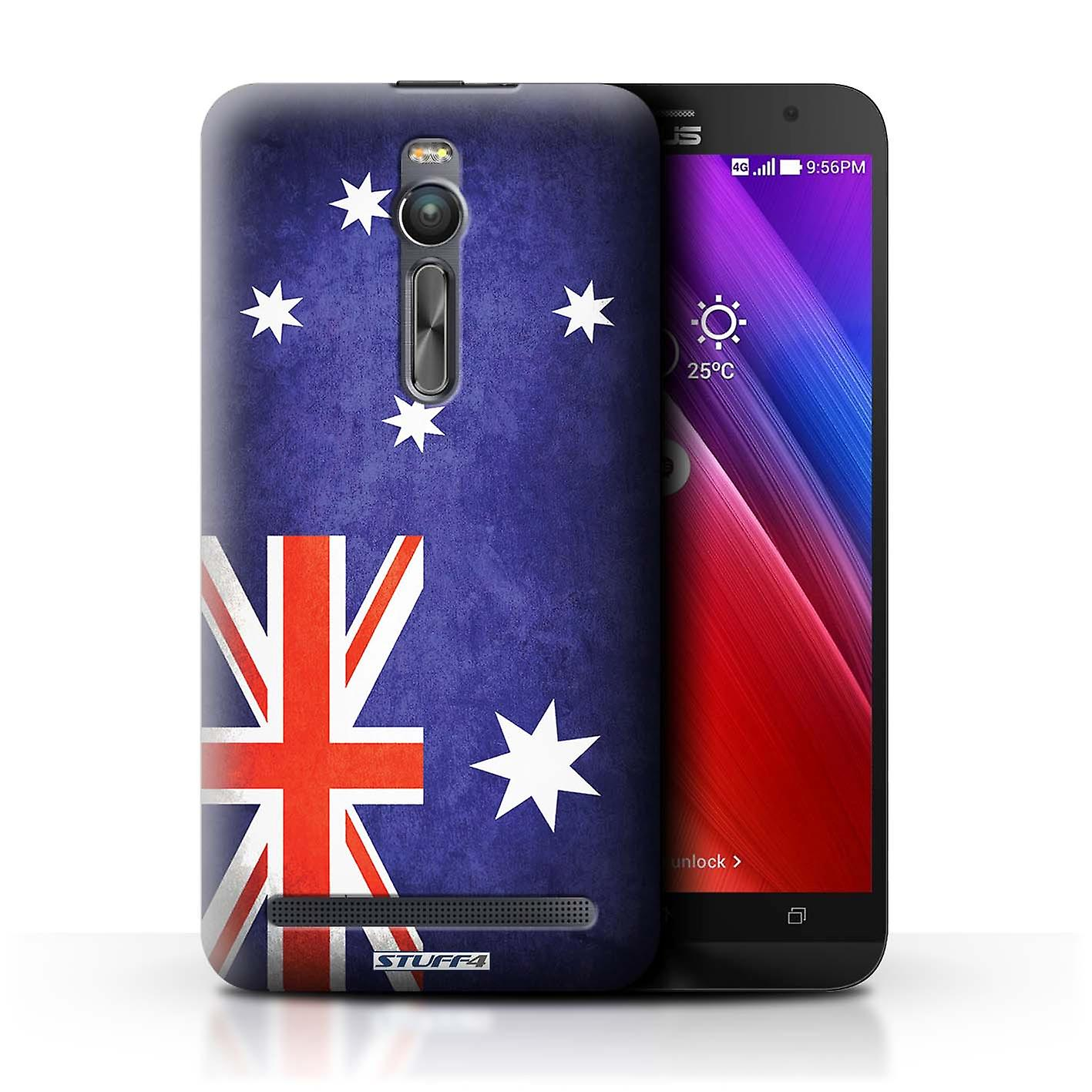 STUFF4 Case/Cover for Asus Zenfone 2 ZE551ML/Australia/Australian/Flags