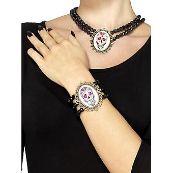 Smiffys Day Of The Dead Beaded Bracelet Black (Babies and Children , Costumes)