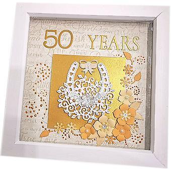 Sweet Pea Designs Handmade 50 Years Anniversary Frame