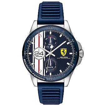 Scuderia Ferrari | Men's Pilota | Blue Rubber Strap | Blue Chronograph Dial | 0830660 Watch