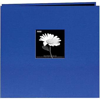 Book Cloth Cover Postbound Album With Window 12