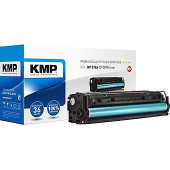 KMP Toner cartridge replaced HP 312A, CF381A Compatible Cyan 2700 pages H-T190