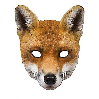 Fox djur kort Party ansiktsmask