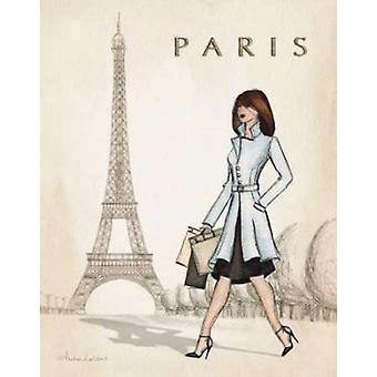 Stampa di Poster di Parigi di Andrea Laliberte