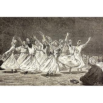 Whirling Dervishes In The 19Th Century From El Mundo Ilustrado Published Barcelona 1880 PosterPrint