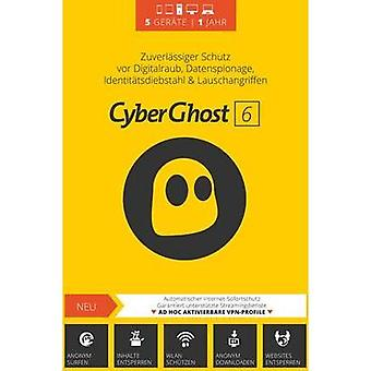 S.A.D. CyberGhost 6 - 5 User Full version, 5 licenses Windows Security