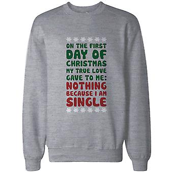 True Love Gave To Me Nothing Funny Christmas Sweatshirt Snowflakes Sweater