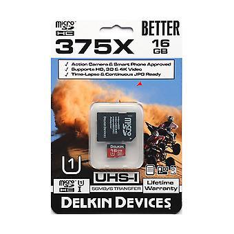 16GB microSDHC Card godkendt til handling kameraer & SmartPhones, HD, 3D, 4 K Video