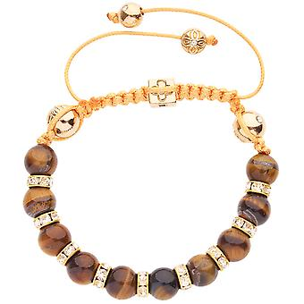 Marcrame unisex bracelet - TIGER EYE gold