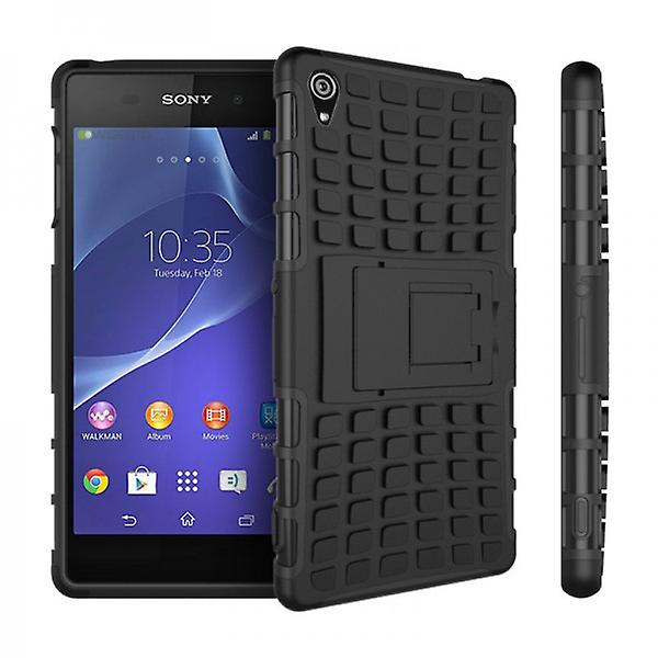 Hybrid Case 2teilig Robot Black for Sony Xperia Z3 Plus E6553 (+) and Dual