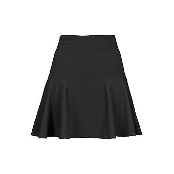 Topshop Black Ribbed Hip Skater Skirt SK214-12