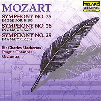 W.a. Mozart - Mozart: Symphonies nos 25, 28 & 29 importer des USA [CD]