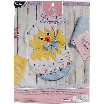 Easter Chick Wall Hanging Felt Applique Kit-15