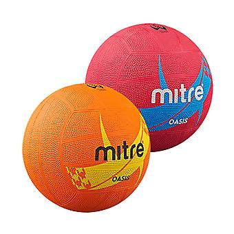 Mitre Oasis Moulded Netball - Practice Ball