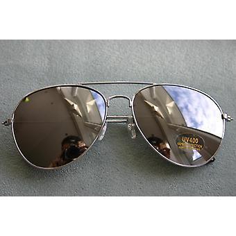 Aviator sunglasses adult glasses 70s Aviator glasses silver reflecting