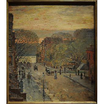 Childe Hassam - Spring on West 78th Poster Print Giclee