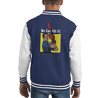 We Can Kill It Ash Vs Evil Dead Kid's Varsity Jacket