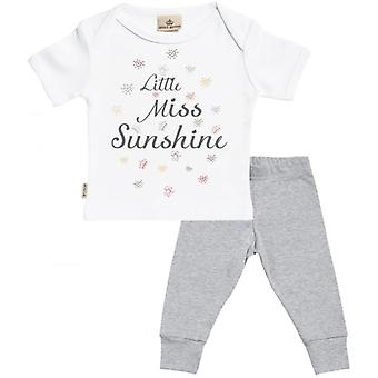 Spoilt Rotten Little Miss Sunshine Baby T-Shirt & Baby Jersey Trousers Outfit Set