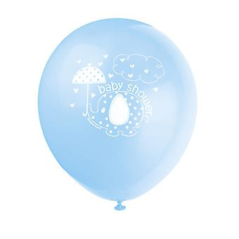 Unique Party 12 Inch Umbrellaphants Baby Shower Balloons