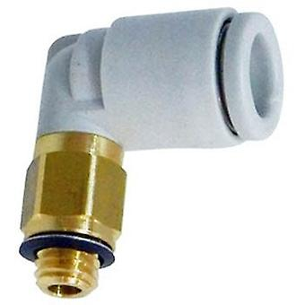 SMC Pneumatic Elbow Threaded-To-Tube Adapter, M5 X 0.8 Male, Push In 4 Mm