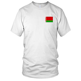 Belarus Country National Flag - Embroidered Logo - 100% Cotton T-Shirt Kids T Shirt
