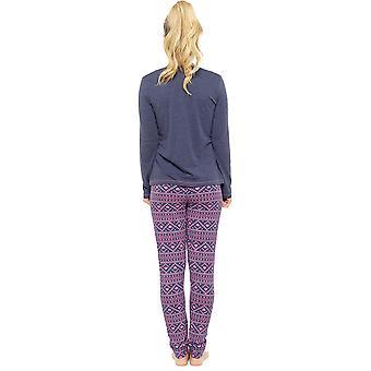 Pijama de señoras Tom Franks fantasía magia Fairisle impresión largo pijama conjunto ropa de dormir