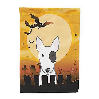 Carolines Treasures  BB1767CHF Halloween Bull Terrier Flag Canvas House Size