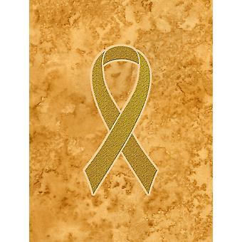 Gold Ribbon for Childhood Cancers Awareness Flag Garden Size