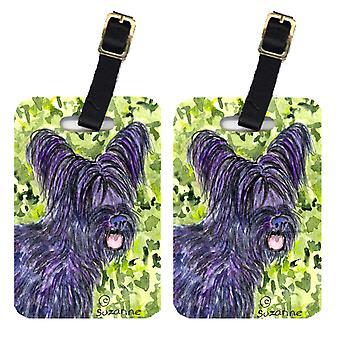 Carolines Treasures  SS8718BT Pair of 2 Skye Terrier Luggage Tags
