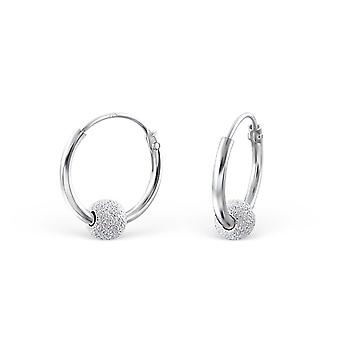 Hoop - 925 Sterling Silver Ear Hoops - W18891x