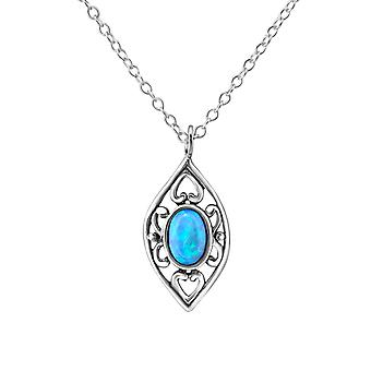 Marquise - 925 Sterling Silver Jewelled Necklaces