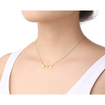 14k Yellow Gold Thin Dainty Necklace with Small Adjustable Charms, 18 Inch (17