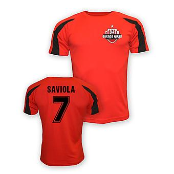 Javier Saviola River Plate Sports Training Jersey (red)